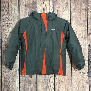 Boys Patagonia Jacket S/8 Gray Orange